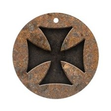 Rusty Maltese Ornament (Round)