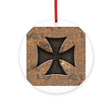 Rusty Maltese Ornament (Round)