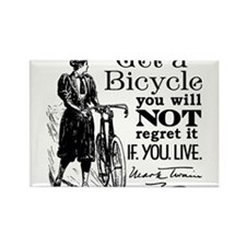 Twain Get A Bicycle Quote Magnets
