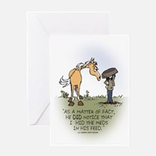 Horse Health - Hidden Meds Greeting Card
