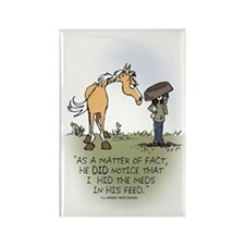 Horse Health - Hidden Meds Rectangle Magnet