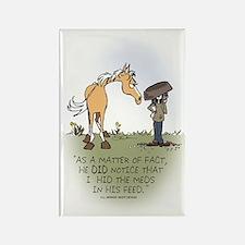 Horse Health - Hidden Meds Rectangle Magnet