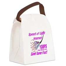 Speed of Light Internet Canvas Lunch Bag