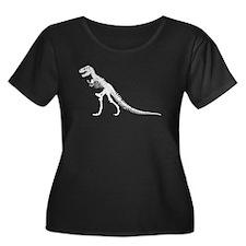T-Rex Skeleton Plus Size T-Shirt
