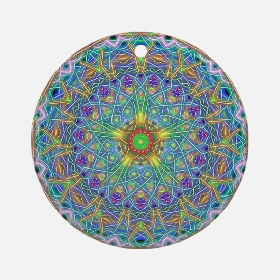 Inner Peace Mandala Round Ornament