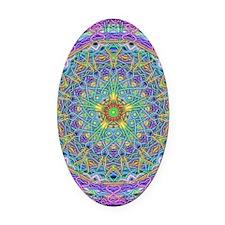 Inner Peace Mandala Oval Car Magnet