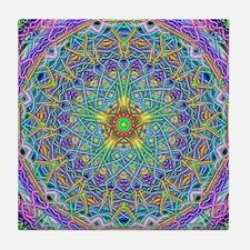 Inner Peace Mandala Tile Coaster