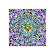 "Inner Peace Mandala Square Sticker 3"" x 3"""
