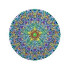 "Inner Peace Mandala 3.5"" Button"