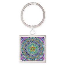 Inner Peace Mandala Square Keychain