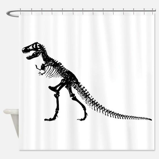 T-Rex Skeleton Shower Curtain