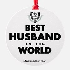 The Best in the World Best Husband Ornament