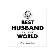 The Best in the World Best Husband Sticker