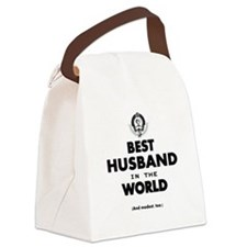 The Best in the World Best Husband Canvas Lunch Ba