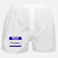 hello my name is karma  Boxer Shorts