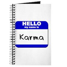 hello my name is karma Journal