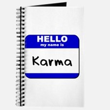 hello my name is karma Journal