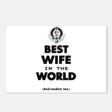 The Best in the World Best Wife Postcards (Package