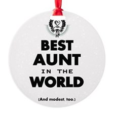 The Best in the World Best Aunt Ornament