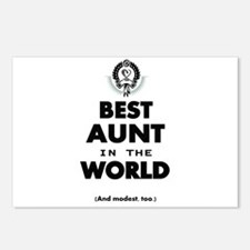 The Best in the World Best Aunt Postcards (Package