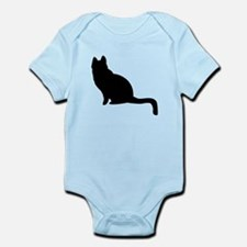 Black Cat Silhouette Body Suit