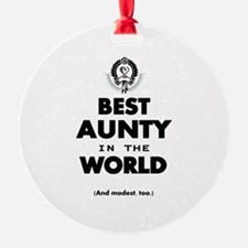 The Best in the World Best Aunty Ornament