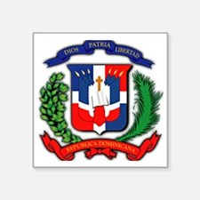 "Republica Dominicana, Domin Square Sticker 3"" x 3"""