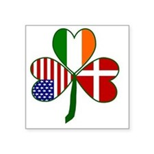 "Danish Shamrock Square Sticker 3"" x 3"""