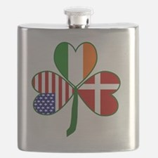 Danish Shamrock Flask