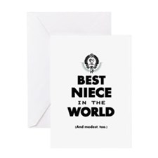The Best in the World Best Niece Greeting Cards