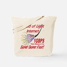 Speed of Light Internet Tote Bag
