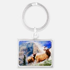 A Stroll in the Mist Landscape Keychain