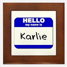 hello my name is karlie  Framed Tile