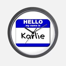 hello my name is karlie  Wall Clock