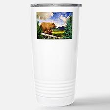 Three Grizzlies in Mont Travel Mug