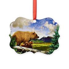 Three Grizzlies in Montana Ornament