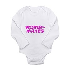 Womb-Mates Pink for Twins + Body Suit