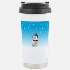 Cheerful Snowman In Winter Stainless Steel Travel