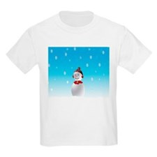 Cheerful Snowman In Winter T-Shirt