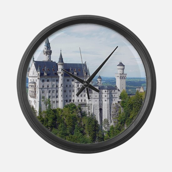 Neuschwanstein001 Large Wall Clock