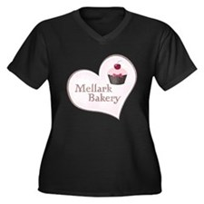 Mellark Bakery Heart Women's Plus Size V-Neck Dark