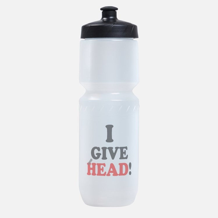 I GIVE HEAD! Sports Bottle