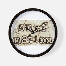surf nation Wall Clock