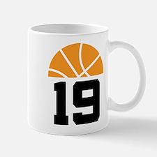 Basketball Logo Number 19 Mugs
