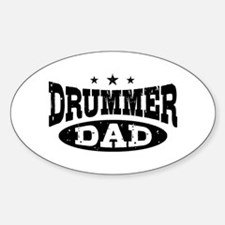 Drummer Dad Sticker (Oval)