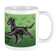 2 Flat Coated Retrievers Mugs
