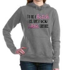 bitch bullshit.png Hooded Sweatshirt
