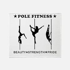 Pole Fitness Beauty Strength Pride Black Throw Bla