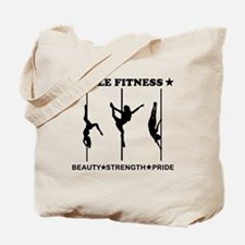 Pole Fitness Beauty Strength Pride Black Tote Bag