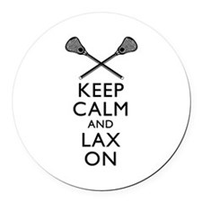 Keep Calm And Lax On Round Car Magnet